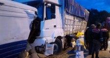 Direksiyonu Kilitlenen Kamyon Polis Uygulama Noktasına Daldı: 3 Yaralı