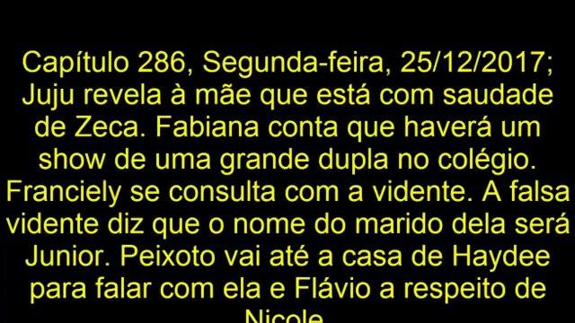 Resumo Semanal Novela Carinha de Anjo 25⁄12⁄2017 a 29⁄12⁄2017