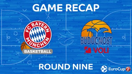 7DAYS EuroCup Highlights Regular Season, Round 9: Bayern 85-82 Buducnost