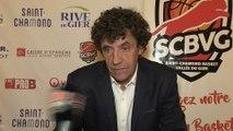 APRES-MATCH - Alain Thinet après la victoire 60 à 53 face à Quimper
