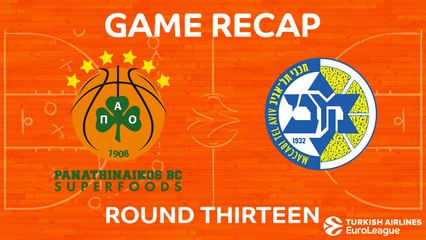 EuroLeague 2017-18 Highlights Regular Season Round 13 video: Panathinaikos 89-76 Maccabi