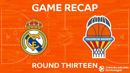 EuroLeague 2017-18 Highlights Regular Season Round 13 video: Madrid 91-72 Valencia