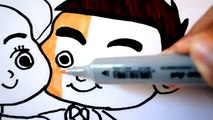 Coloring for kids Little Bride and Groom| Boys and Girls Fun Art Children Learning Colored Markers