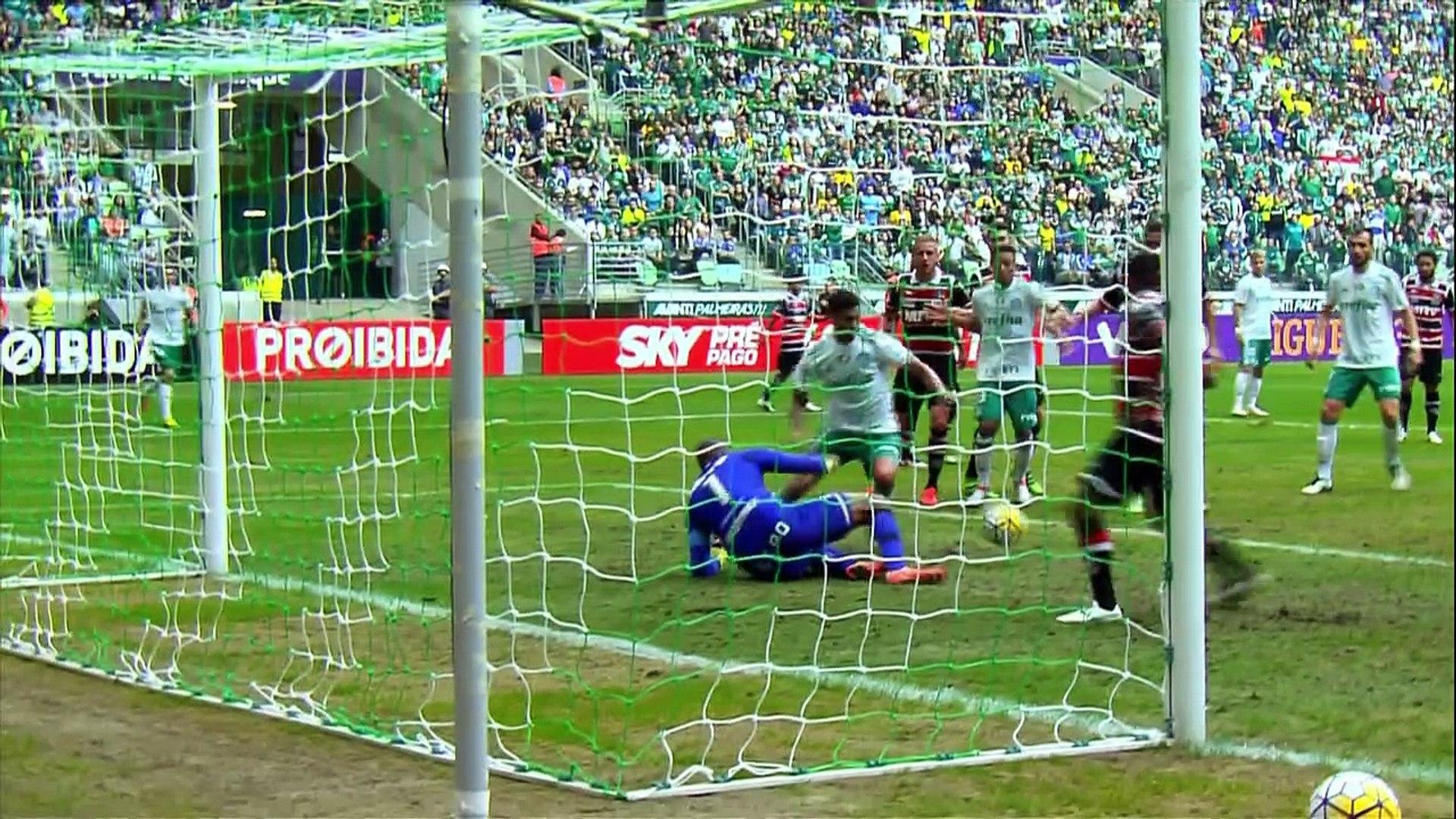 09 Rodada - Palmeiras 3x1 Santa Cruz (Campeonato Brasileiro 2016)