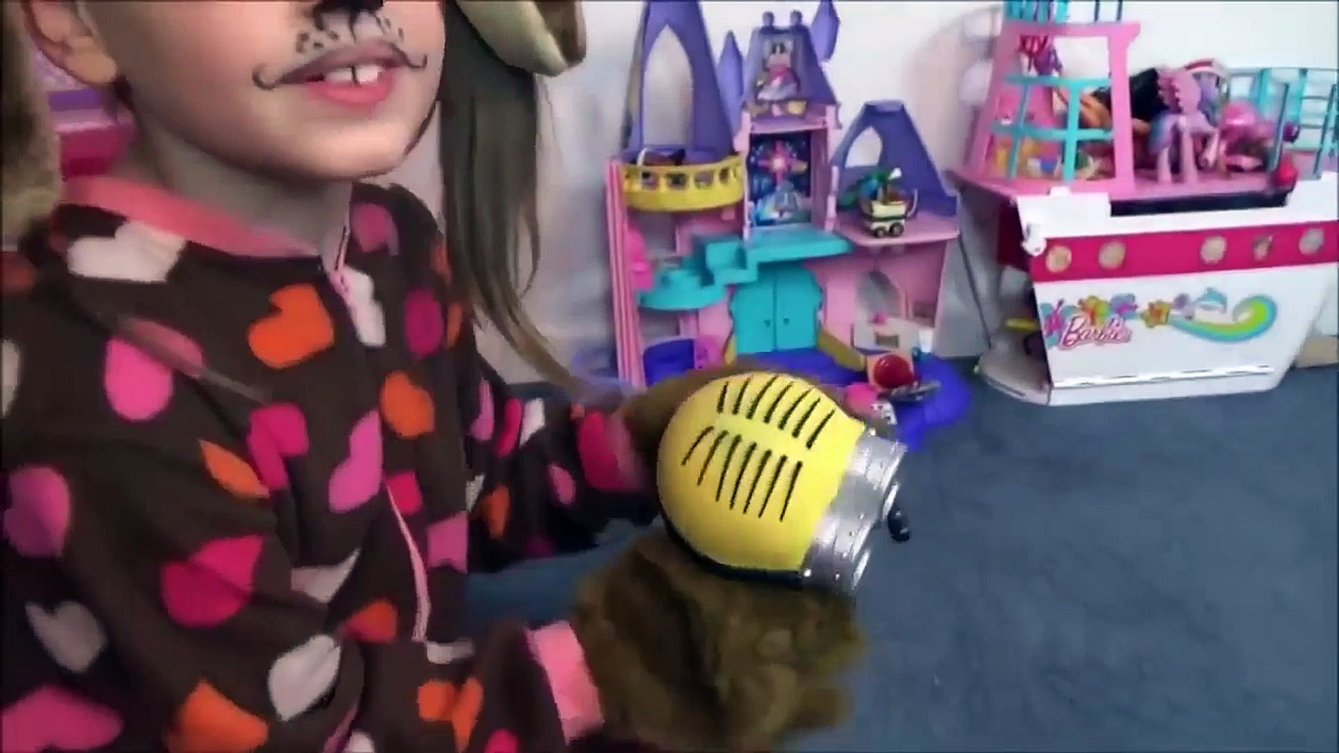 Toy Freaks - Freak Family Vlogs - Bad Baby Toy Freaks Puppy Kitty Pizza Challenge Victoria Annabelle