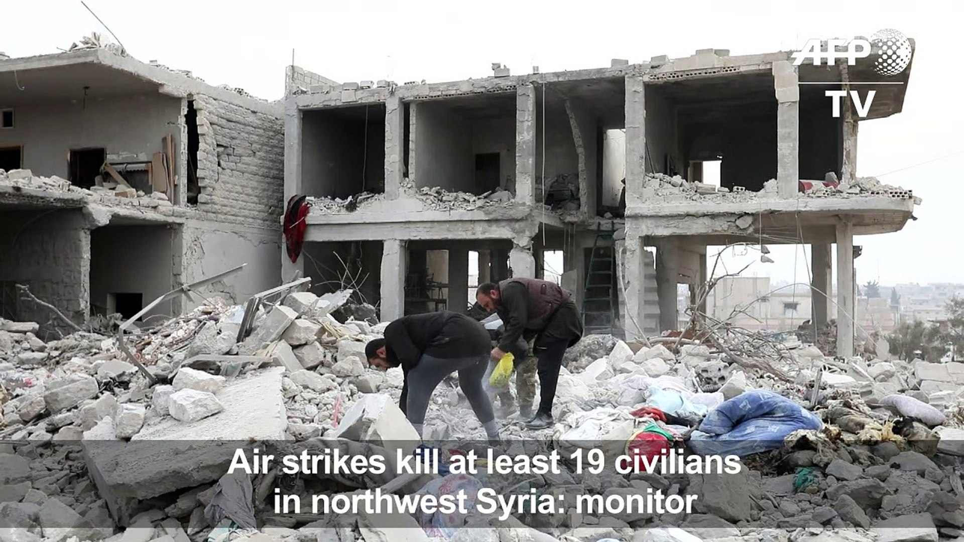 Air strikes kill at least 19 in northwest Syria: monitor