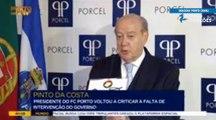 Pinto da Costa critica a passividade das autoridades em relação aos emails