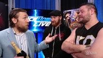 Kevin Owens & Sami Zayn try to celebrate with Daniel Bryan  SmackDown LIVE, Dec. 19, 2017
