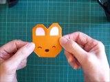 折り紙 クマの顔 簡単な折り方(niceno1)Origami teddy bear face-bNCM5eSbDoM