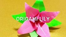 折り紙 ゆり 折り方    Origami Lily Flower-nNS1q9mVXpE