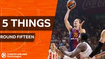 Turkish Airlines EuroLeague, Regular Season Round 15: 5 Things to Know