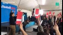 L'opposant russe Alexeï Navalny rassemble des milliers de partisans pour soutenir sa candidature à l'élection présidentielle