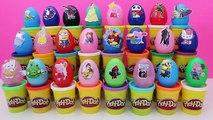 Surprise Eggs Peppa Pig Spiderman Minions Angry Birds Frozen Disney Princess Huevos Sorpresa , Cartoons animated movies 2018