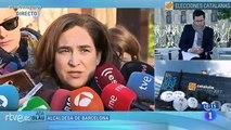 Ada Colau: No es una jornada electoral cualquiera porque se da con una situación de excepción, con el Gobierno de la Generalitat intervenido. Es triste para Cataluña. Por esto es importante acudir a votar, para recuperar la normalidad