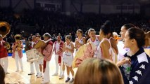 La joie des joueuses de Basket Landes après la qualification en Eurocoupe