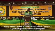 ANC's new head makes his first address to delegates