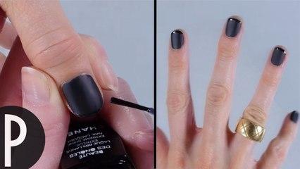 tuto ongles noirs mat