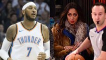 Carmelo Anthony's Wife La La Hits Him with a DEATH STARE During Return Game in New York_MELO_NOPR