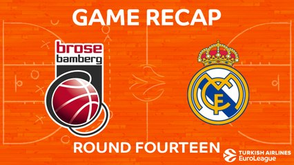 EuroLeague 2017-18 Highlights Regular Season Round 14 video: Bamberg 66-81 Madrid