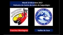 19.12.2017; HC Franches-Montagnes - HC Vallée de Joux (1ère ligue/Groupe Ouest)