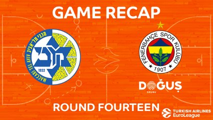 EuroLeague 2017-18 Highlights Regular Season Round 14 video: Maccabi 82-73 Fenerbahce