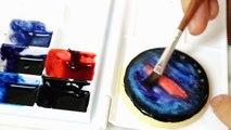 How to make Galaxy Icing Cookies 銀河糖霜餅乾 갤럭시 얼음 쿠키 만드는 방법-7m3nCXPQlvM