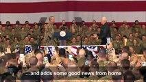 VP Pence pays surprise visit to US troops in Afghan