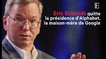 Eric Schmidt quitte la présidence d'Alphabet, la maison-mère de Google