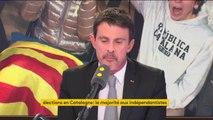 """""""L'agenda indépendantiste s'est heurté à un mur"""" pour Manuel Valls qui affirme qu'il y a """"une forme d'impasse"""""""