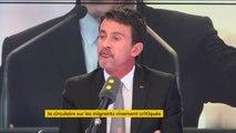 """Circulaire sur les migrants dans les centres d'hébergement d'urgence : """"Je ne comprends pas pourquoi les associations refusent ce débat. Moi je soutiens pleinement Gérard Collomb"""" affirme Manuel Valls."""