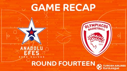 EuroLeague 2017-18 Highlights Regular Season Round 14 video: Efes 58-61 Olympiacos