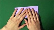 Origami 'Iris' 折り紙 「菖蒲」折り方-Ur637fw-F84