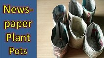 Newspaper Pots for Seed Starting/Cuttings ! Newspaper Plant Pots