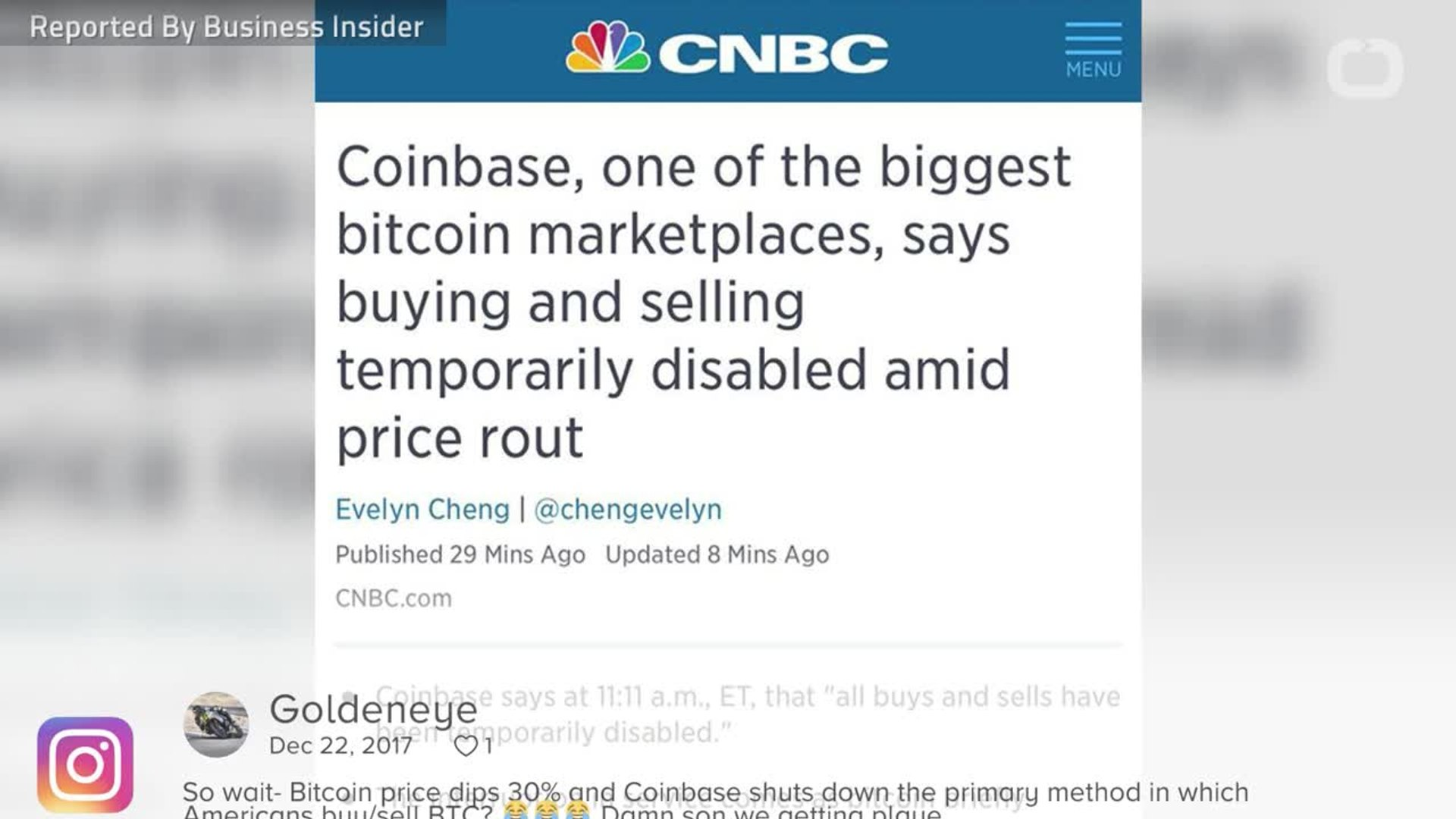 Coinbase halts buying and selling as crypto market plunges
