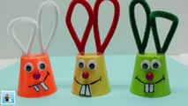 How to Make a Funny Bunny from Plastic Cup _ Easter DIY Crafts for Kids _ Recycled Bottles Crafts-8xlVL4JSmJg