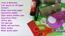 Recycled Crafts Ideas and Art Projects - Cute Paper Roll Frogs Recycled Bottles Crafts-Be0yJLWVfhM