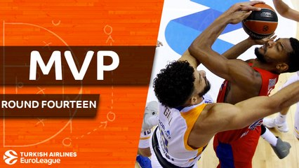 Round 14 co-MVPs: Cory Higgins, CSKA and Tornike Shengelia, Baskonia