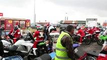Des motards en père Noël en Charente