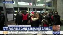Avec l'affluence en gare de Bercy à Paris, certains voyageurs ne parviennent même pas à rentrer dans le hall