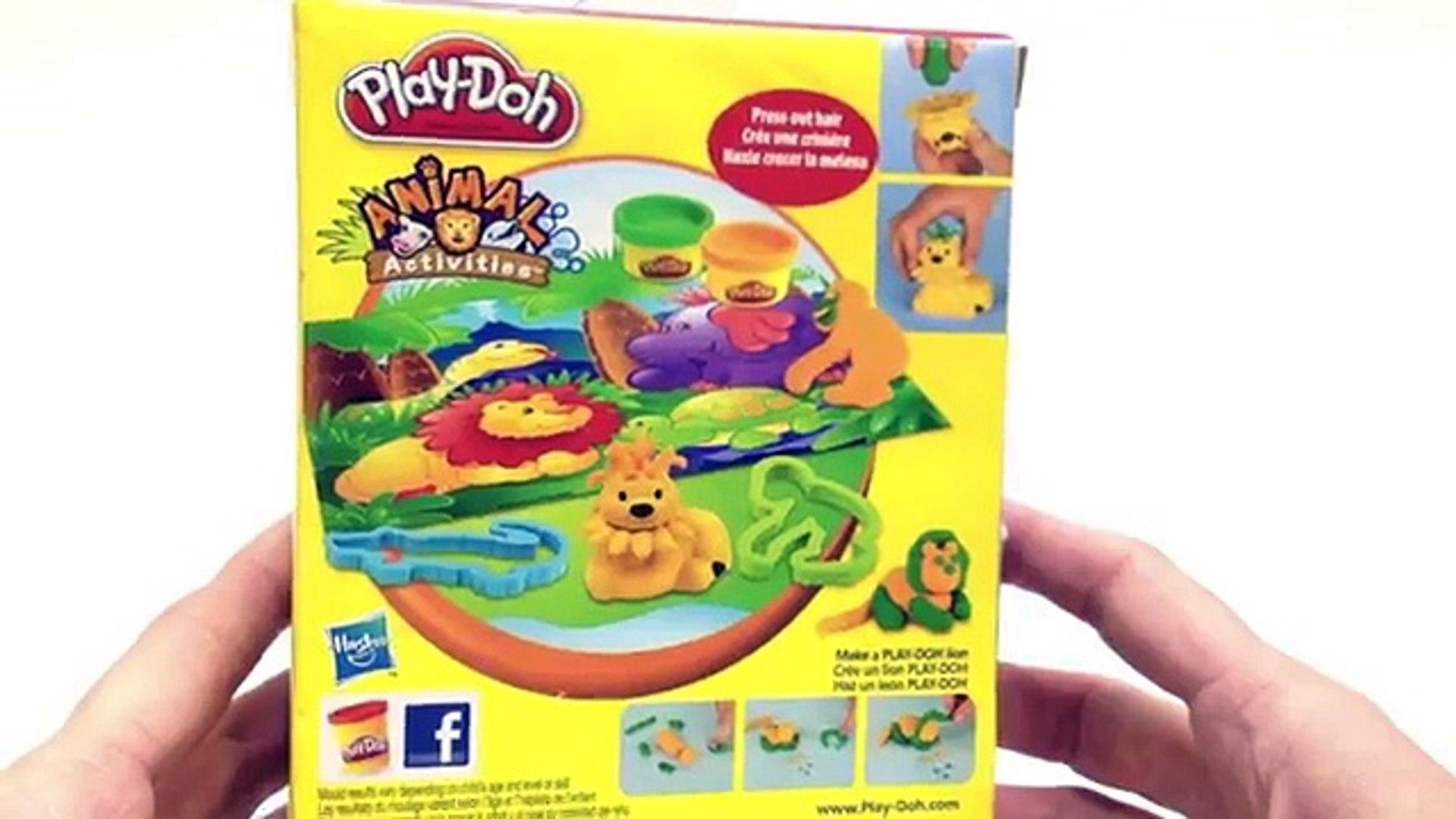 Play Doh Jungle Pets Animal Activities Play-Doh Lion, Crocodile and Monkey Playdough Set , Cartoons