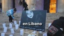 Activistas libaneses protestan contra los asesinatos machistas