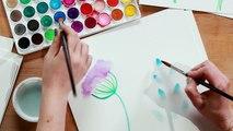 How to Paint Watercolor Flowers - Easy Art Project - HGTV Handmade-DLGILeRBGGU