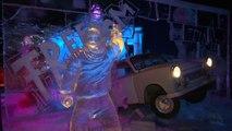 Ice sculptures recreate iconic landmarks