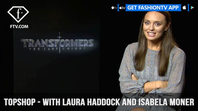 Laura Haddock and Isabela Moner Topshop 7 Question Interview Transformers Stars | FashionTV | FTV