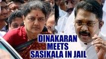 TTV Dinakaran meets Sasikala in Bengaluru jail after winning RK Nagar Bypolls | Oneindia News
