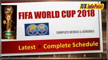 FIFA FOOTBALL WORLD CUP 2018. New Schedule Announced