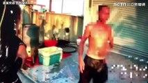 男18℃半裸騎車 「我整年都穿皮衣 習慣了!」