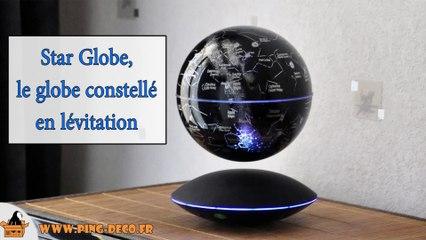 b7960e29732585 Globe en lévitation sur base électromagnétique noire avec induction