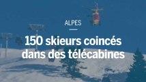 Dans les Alpes, 150 personnes coincées dans des télécabines sont évacuées par hélicoptère