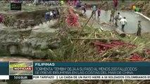 Tormenta Tembin provoca 200 muertos y miles de evacuados